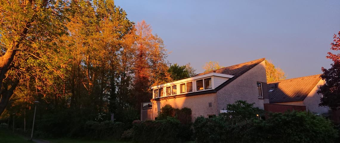 House in autumn
